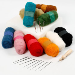 Nålfiltning - Startset Mixade Färger