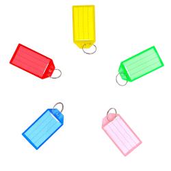Nyckelhållare (Röd, Blå, Grön, Gul, Rosa) 10-pack