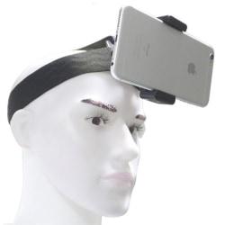 Pannband för GoPro kamera och mobil Svart