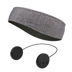 Pannband med Bluetooth hörlurar och mikrofon - grå