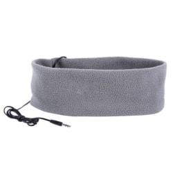 Pannband med inbyggda hörlurar - ljusgrå