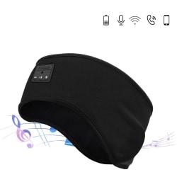 Pannband och sovmask med inbyggda hörlurar - Svart