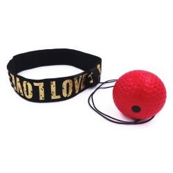 Pannbandsboxning - reflexboll med pannband - röd