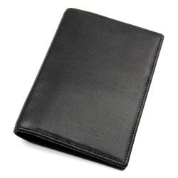 Passfodral / korthållare med RFID skydd - läder - svart