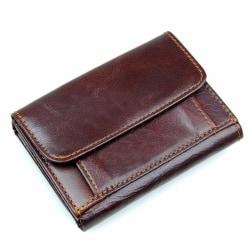 RFID plånbok i äkta läder - Brun