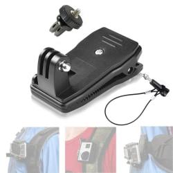 Ryggsäcksklämma för GoPro med vajerlås