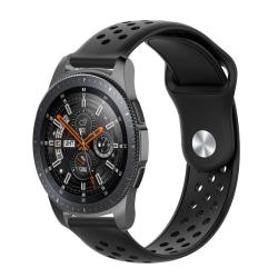Samsung Gear S3 / Galaxy Watch 46 mm armband 22 mm - svart
