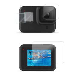Set med skärmskydd / linsskydd till GoPro Hero 8 Black Transparent