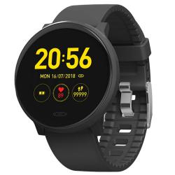 Smartwatch med pulsklocka och sömnanalys Svart