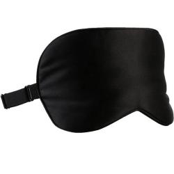 Sovmask - 100% silke - Svart Svart