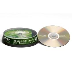 TDK DVD+R DL Cakebox 10-pack 8,5 GB