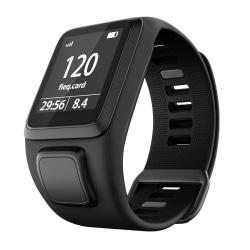 TomTom Adventurer / Golfer / Runner / Spark m.m armband silikon  Svart