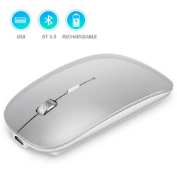 Trådlös ergonomisk gamingmus 1600 dpi - Silver