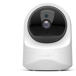 Trådlös övervakningskamera - full HD, 360 grader, rörelsedetekto Vit