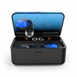 Trådlösa Bluetooth 5.0 In-ear hörlurar med touch Blå