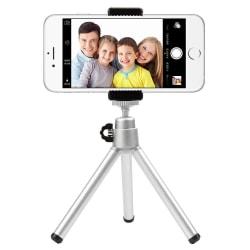 Tripod - trebensstativ för mobil och kamera - silver Silver