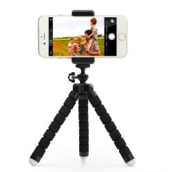 Tripod - trebenstativ med fjärr för mobil och kamera Svart