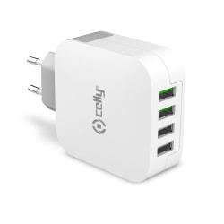 USB-laddare 4xUSB 4,8A (24W)