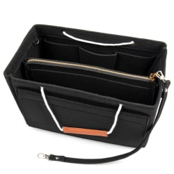 Väskinsats med handtag för handväska Svart (M)