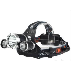 Vattentålig pannlampa LED - Svart/silver