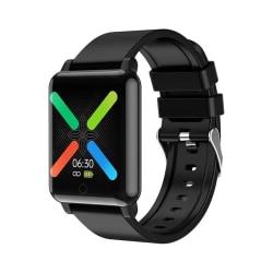 Vattentålig smartwatch som mäter hjärtfrekvens, temperatur, blod Svart