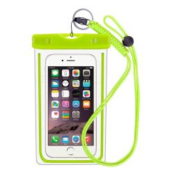 Vattentät mobilväska för smartphone - universal - grön