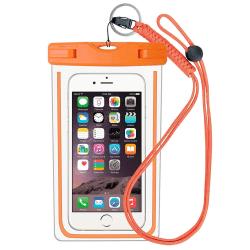 Vattentät mobilväska för smartphone - universalstorlek - orange