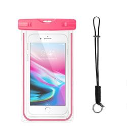 Vattentät mobilväska för smartphone - universalstorlek - pink