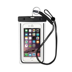 Vattentät mobilväska för smartphone - universalstorlek - svart