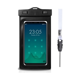 Vattentätt mobilfodral - universalstorlek - svart