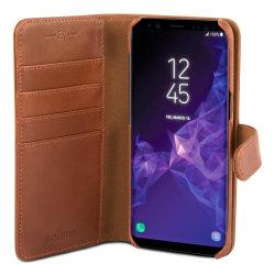 Wallet Läder Galaxy S9 Brun