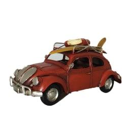 Läcker VW bubbla i retroinspirerad stil, metall prydnad surf röd Röd