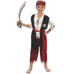 Maskeraddräkt pirat pojke multifärg