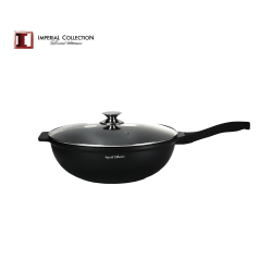 Imperial Collection wokpanna med glaslock 34 cm svart 34 cm