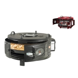 74258 Stand-up oven Round BLACK