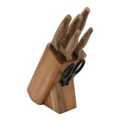 Bergner 7 Delars Knivset med träställ brun