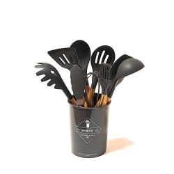 Silikon matlagningsredskap 10 delar svart