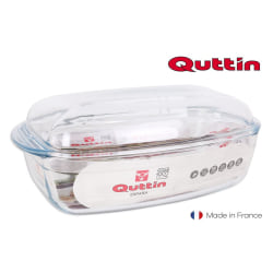 rectangular glass pan with lid 4,4l + 2,3l