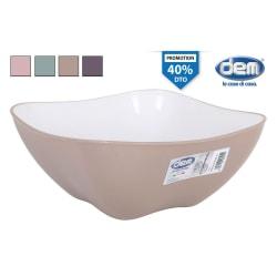 square salad bowl 30x30cm pastel
