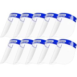 10-Pack -Visir / Skyddsvisir - Skydd för Ansikte Mun Transparent
