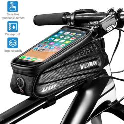 Cykelramväska Vattentåligt mobilfodral för iPhone