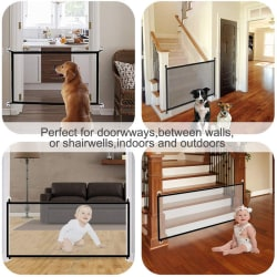 Magic Gate Stair Safety Gate Foldable Plastic Dog Safe Guard