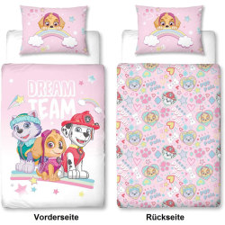 PAW Patrol Pink Reversible Duvet Cover 100 x 135 cm and Pillowc