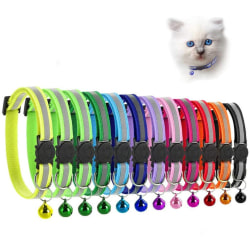 Reflekterande kattkrage med justerbar klocka, 19-32 cm förpackning med 12