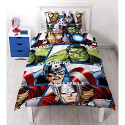 """Single Disney """"Marvel Avengers Shield"""" Rotary Duvet Set"""
