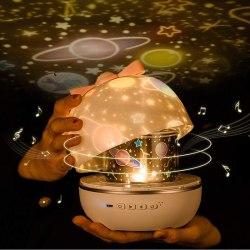 Stjärnprojektor Sky Projector, Music Night Light Baby Star Lamp