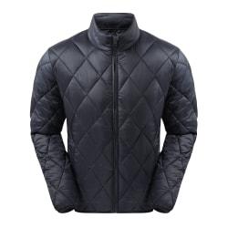 2786 Diamond Pane Padded Jacket för män S Marin