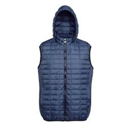 2786 Honeycomb Zip Up Hooded Gilet / Bodywarmer XS Marin