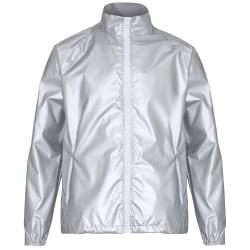 2786 Mens Contrast Lightweight Windcheater Shower Proof Jacket S Silver (Metallic)/ White S