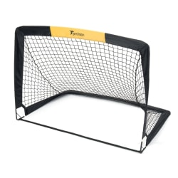 Precision Pop-up fotbollsmål (2-pack) 4.5ft x 3.5ft Svart